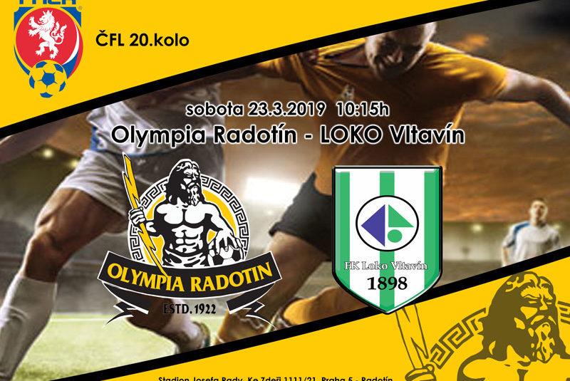Fotbal je zpátky:  Olympia poprvé na jaře doma